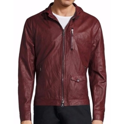John Varvatos  - Slim Sheep Skin Leather Jacket