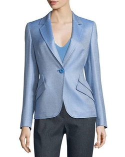 Escada  - Double Flap-Pocket One-Button Blazer