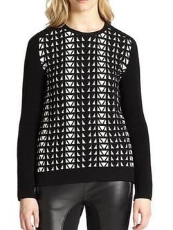 Faith Connexion  - Geometric Jacquard Sweater