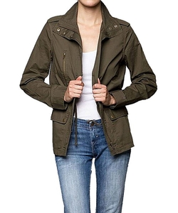 Bungalow 20 - Military Green Cargo Utility Jacket