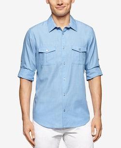 Calvin Klein - Chambray Double-Pocket Shirt