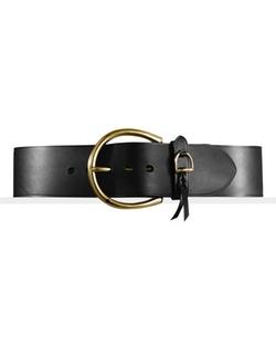 Ralph Lauren - Leather Equestrian Charm Belt