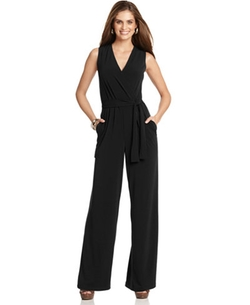 NY Collection  - Sleeveless Wide-Leg Jumpsuit