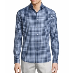 Theory - Sylvain Check Long-Sleeve Sport Shirt