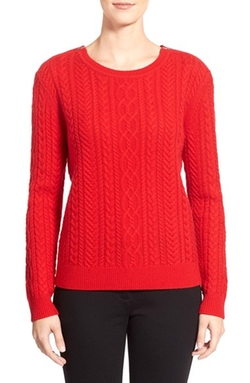 Nordstrom Collection - Cable Wool & Cashmere Sweater