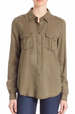 Paige Denim  - Amita Army Button-Down Shirt