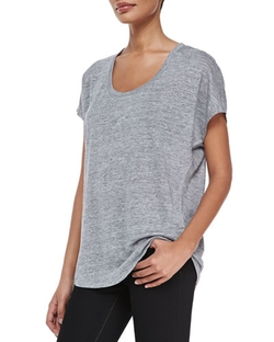 Joie - Maddie Scoop-Neck Short-Sleeve Linen Top