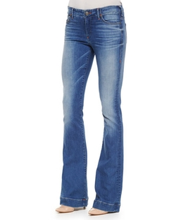 True Religion - Charlize Faded Whiskered Flared Jeans