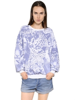 Stella McCartney  - Animalier Printed Cotton Sweatshirt