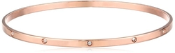 Chamak By Priya Kakkar  - Rose Gold Plated Swarovski  Bangle Bracelet