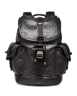 Givenchy  - Trident Star-Embossed Leather Backpack