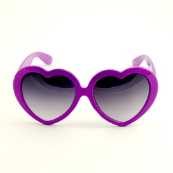 Cats Like Us - Purple Heart Shaped Sunglasses