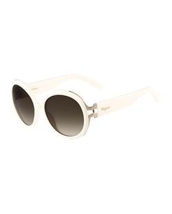 Salvatore Ferragamo - Gancio Oversize Round Sunglasses