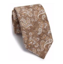 Isaia - Paisley Silk & Wool Tie