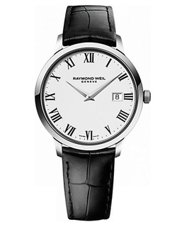 Raymond Weil - Toccata Silvertone and Leather Watch
