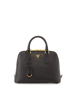 Prada  - Mini Double-Handle Trapezoid Bag