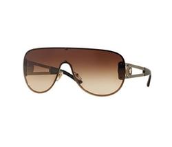 Versace - Gradient Greek Key Shield Sunglasses