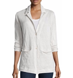 Eileen Fisher - Organic Cotton-Blend Two-Button Jacket