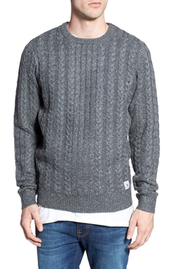 BellField  - Nep Cable Knit Crewneck Sweater
