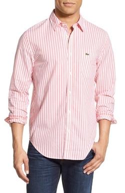 Lacoste - Regular Fit Stripe Woven Shirt