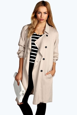 Boohoo - Wendy Fluid Waterfall Trench Coat
