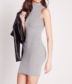 Missguided - Jersey Roll Neck Bodycon Dress