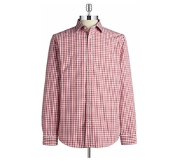 Black Brown 1826 - Checkered Cotton Sportshirt