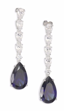 Adriana Orsini  - Linear Crystal Teardrop Earrings