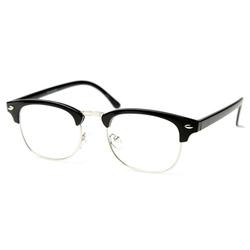 ZeroUV - Classic Half Frame Horn Glasses