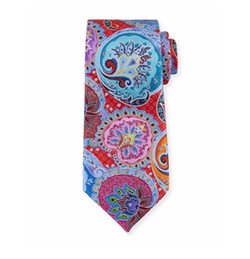 Ermenegildo Zegna  - Paisley-Medallion Printed Silk Tie
