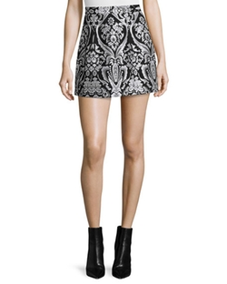 Alice + Olivia  - Loran Structured Floral Lantern Skirt