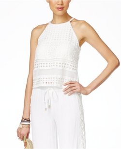 INC International Concepts - Crocheted Halter Top