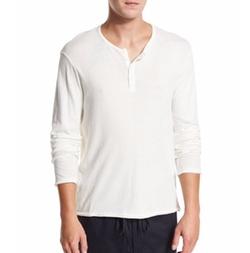 Vince - Raw-Edge Henley T-Shirt