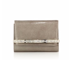 Jimmy Choo  - Bow Glittered Embellished Patent Leather Clutch Bag
