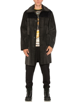 Opening Ceremony - Suede Back Over Coat
