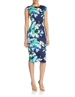 Vince Camuto  - Floral Print Sheath Dress