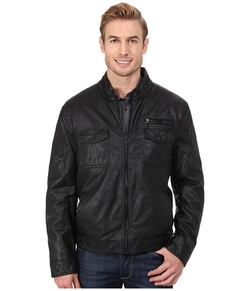 Kenneth Cole Reaction - Faux Leather Hipster Jacket