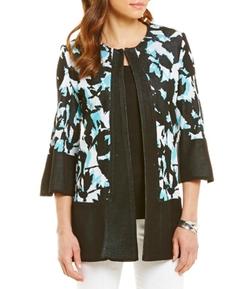 Misook  - Floral-Print Kimono