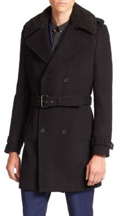 The Kooples - Wool-Blend Trench Coat