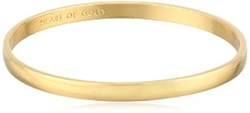 "Kate Spade New York  - Idiom Collection ""Heart of Gold"" Bangle Bracelet"