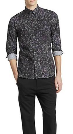 Ps Paul Smith - Galaxy Print Button-Down Shirt