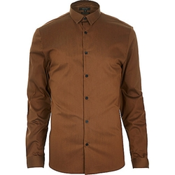 River Island - Stretch Long Sleeve Slim Shirt