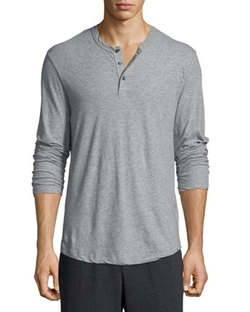 James Perse  - Long-Sleeve Knit Henley Shirt