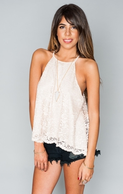 Show Me Your Mumu  - In The Buff Lace Selena Top
