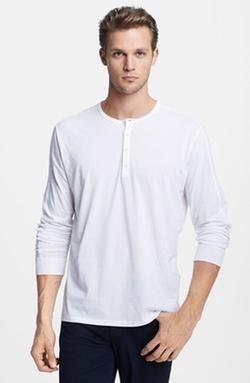 Vince - Long Sleeve Knit Henley Shirt