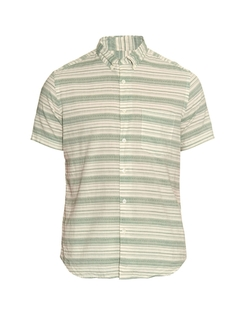 Steven Alan  - Striped Diamond Jacquard Shirt