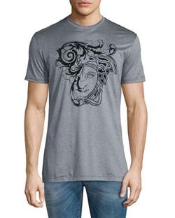 Versace Collection - Flocked Medusa Head Graphic Short-Sleeve T-Shirt
