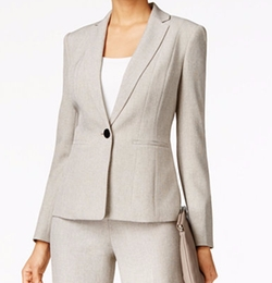 Kasper - Petite One-Button Melange Jacket