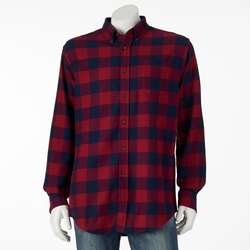 Croft & Barrow - Plaid Flannel Casual Button-Down Shirt