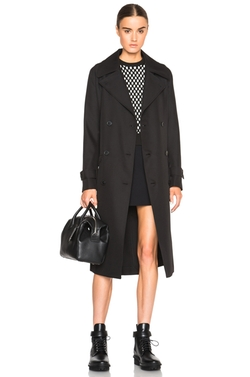 T By Alexander Wang - Sleek Twill Trench Coat